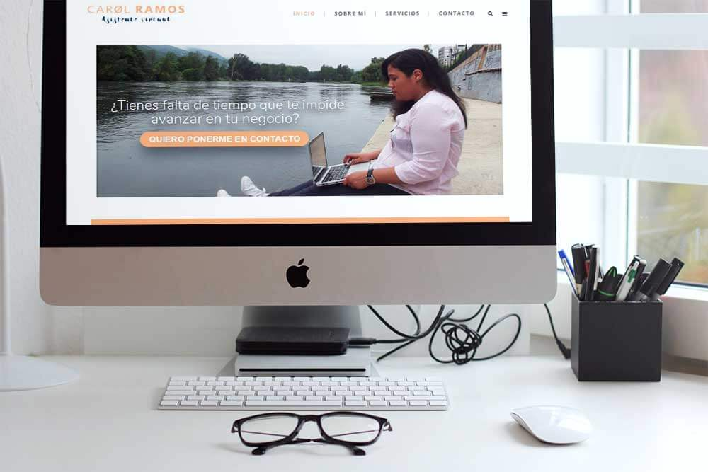 diseño web Carol Ramos